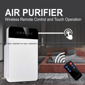 Portable Air Purifier With Remote Control and Timer, HEPA Filter Air Cleaner For Dust, Allergies, Odor Cleaner Ionizer